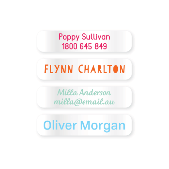 Name Labels - Clear Small