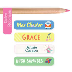 Name Labels - Designer Pencil