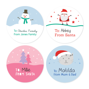 Christmas Gift Labels - Round