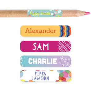 Name Labels - Pattern Pencil