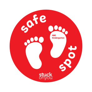Bright Safe Spot Floor Stickers