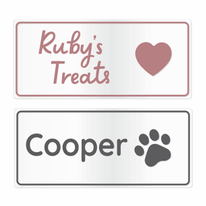 Clear Stick-On Pet Name Labels - Large
