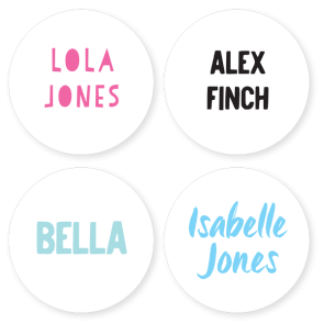 Iron On Labels - Basic Large Round