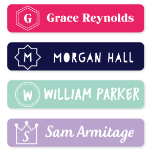 Iron On Labels - Monogram Large