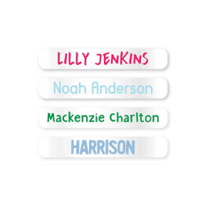 Name Labels - Clear Mini