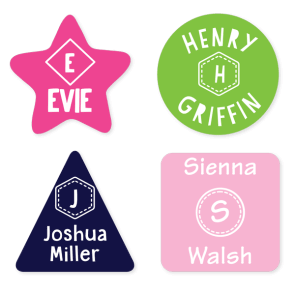 Name Labels - Monogram Geometric