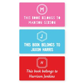 Book Labels - Monogram