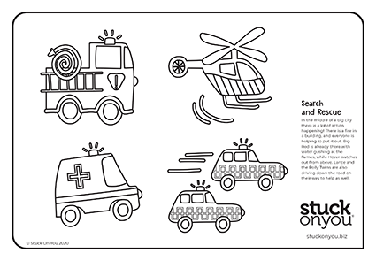 activities for kids search and rescue colouring page
