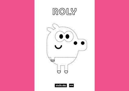 Hey Duggee Roly colouring in page