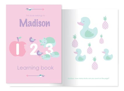 Kids educational numbers learning book