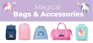 Kids personalised bags and accessories
